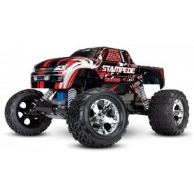 Stampede 2WD 1/10 RTR TQ Röd-X utan Batt & Laddare