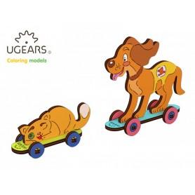 Ugears Hund & Katt - 4Kids